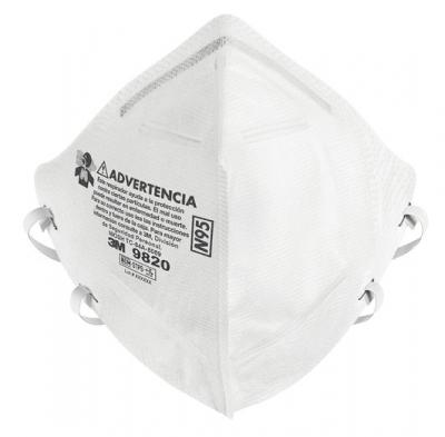 Respirador 9820 N95 Caja X 100