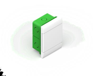 Caja Embutir P/8 Mod Pta Bca