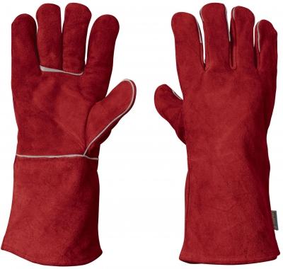 Guante Rojo Carnaza P/soldador
